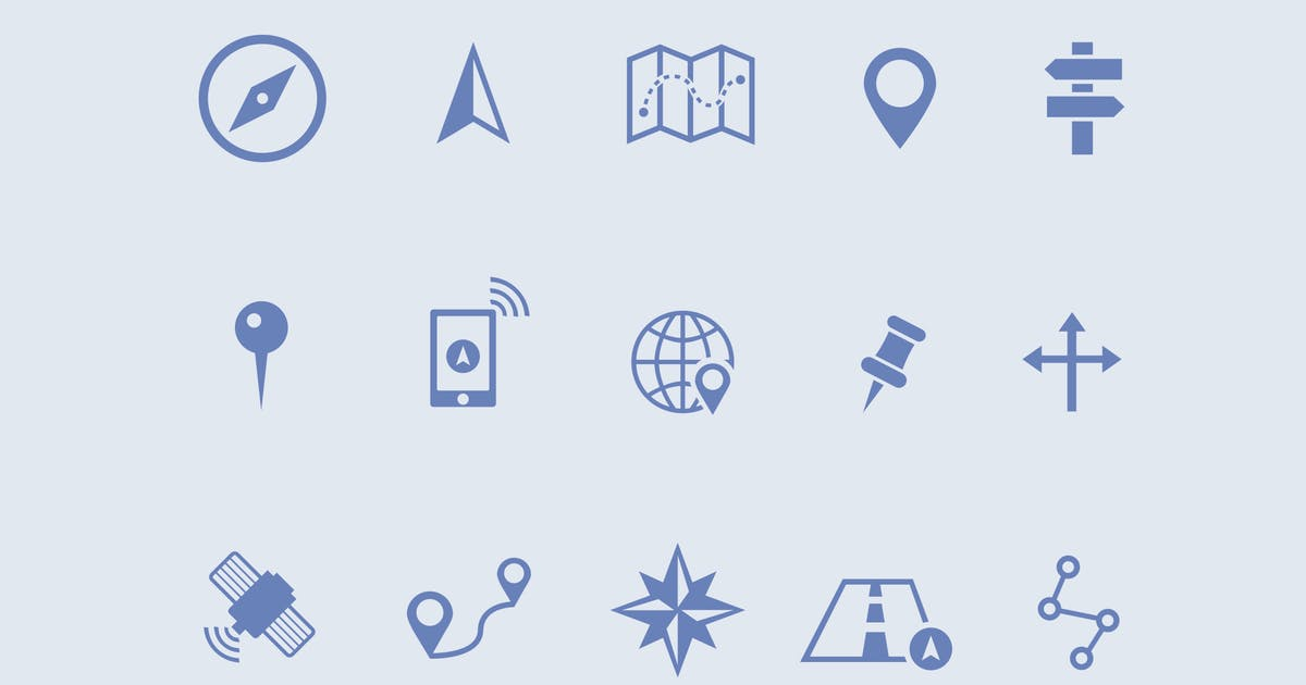 Download 15 Map and Navigation Icons by creativevip