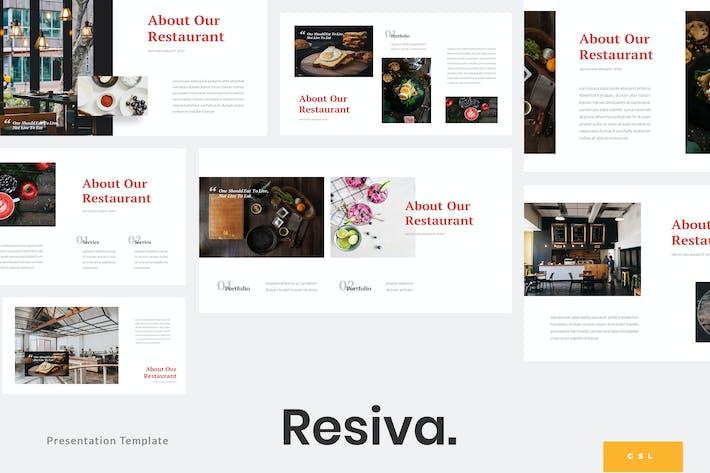 Thumbnail for Resiva - Restaurant Google Slides Template