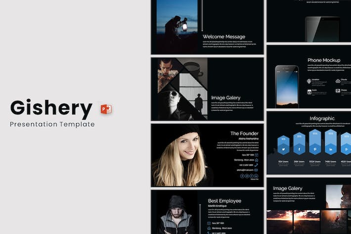 Cover Image For Gishery - Powerpoint Template
