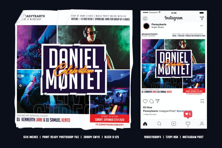 Thumbnail for DJ Square Flyer & Instagram Post
