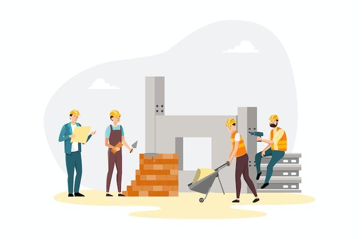 Thumbnail for Architekten und Bauarbeiter.