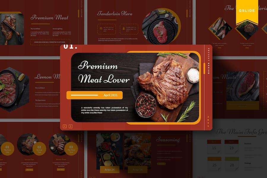 Premium Meat Lover   Google Slides Template