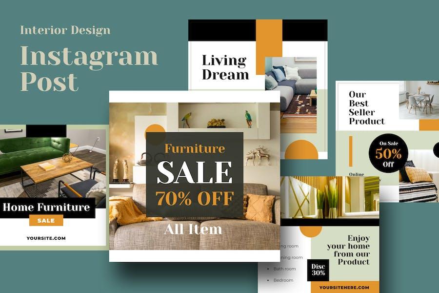Interior Exterior Real Estate Instagram Post