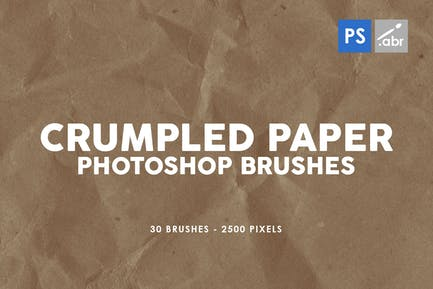 30 pinceles de papel arrugado Photoshop