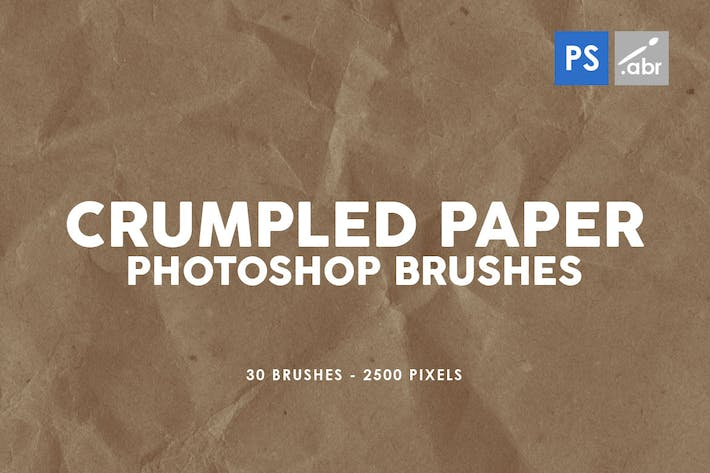 Thumbnail for 30 Crumpled Paper Photoshop Stamp Brushes