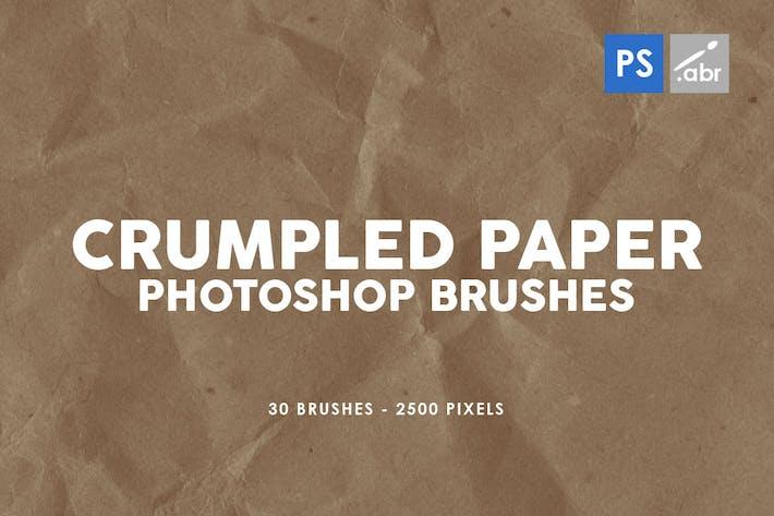 30 Смятая бумага Photoshop штамп Кисти