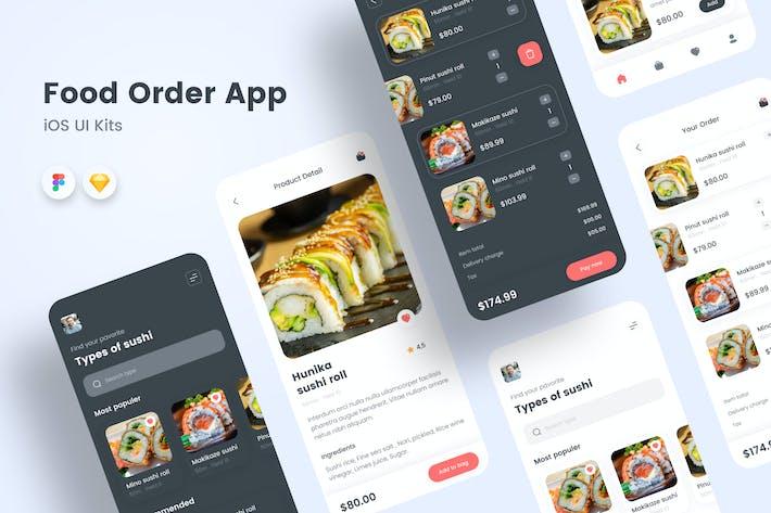 Food Delivery iOS UI Kit Sanstemp