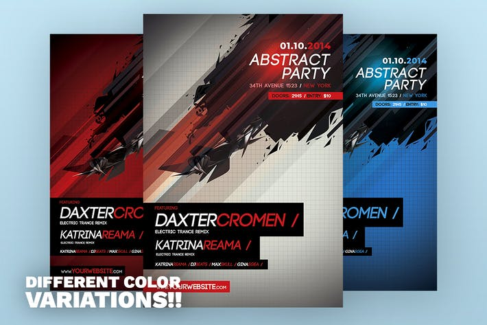 Thumbnail for Abstract V2 Flyer Template
