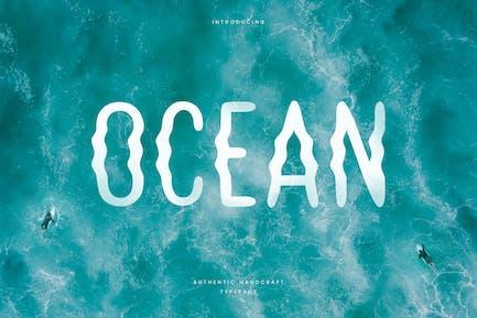 Ocean - Hand Writing Summer Font
