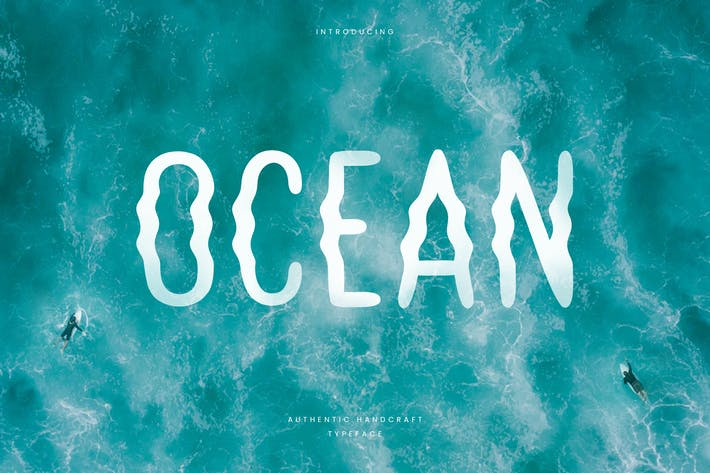 Thumbnail for Ocean - Hand Writing Summer Font
