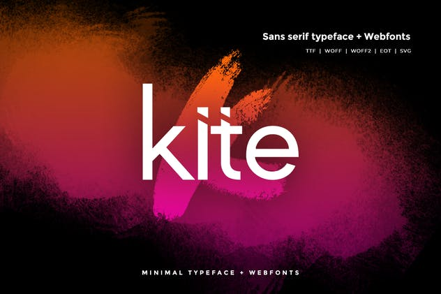 Kite - Modern Typeface + WebFonts - product preview 0
