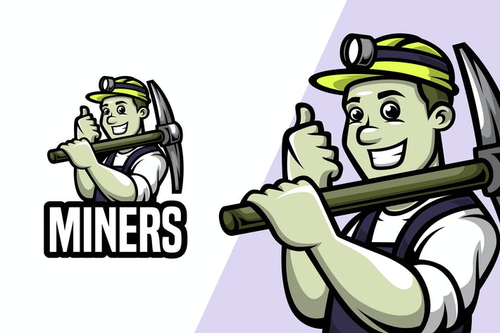 Thumbnail for Miners - Mascot Logo Template