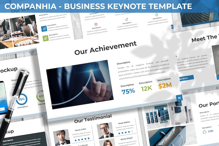Thumbnail for Companhia - Business Keynote Template