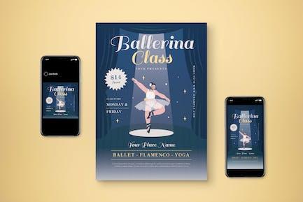 Ballerina Class Flyer Set