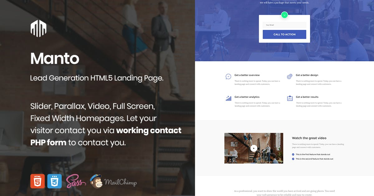 Download Manto - Lead Generation Landing Page by ExplicitConcepts
