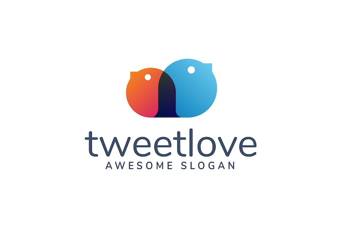 Thumbnail for Tweet Love Logo Template