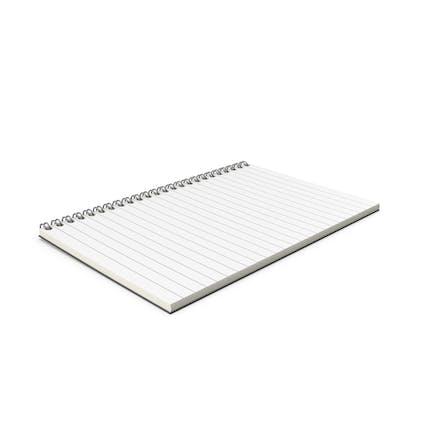 Notebook Open Folded