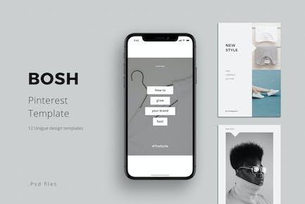 BOSH - Pinterest Template