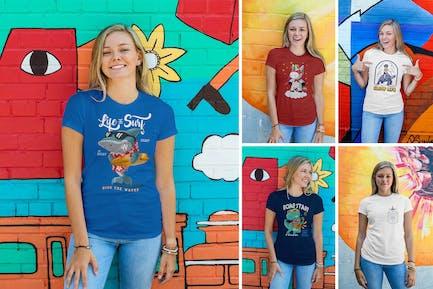 Women Urban T-Shirt Mockups