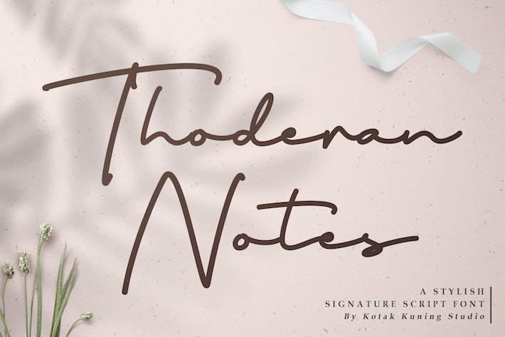 Thumbnail for Fuente del script de firma de Thoderan Notes