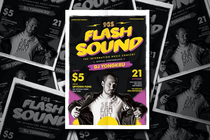Thumbnail for Flash Sound Music Party Flyer