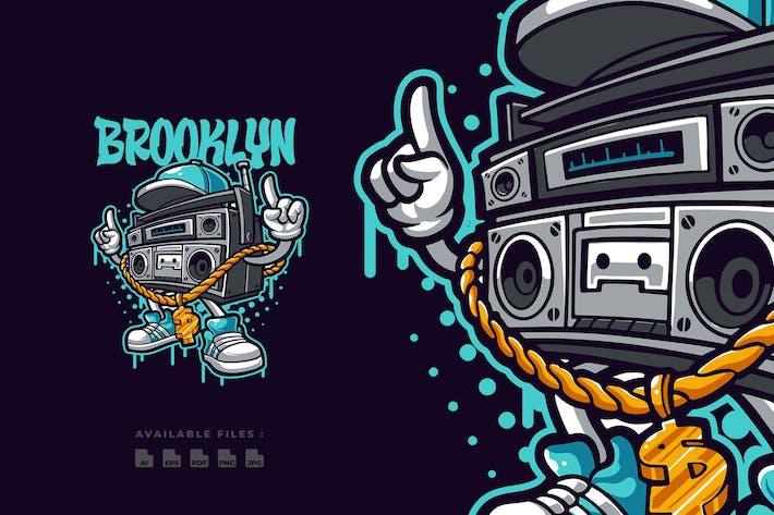 Thumbnail for Hip Hop Compo Cartoon Logo