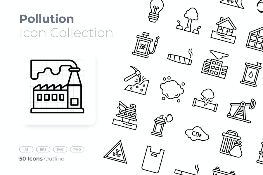 Pollution Outline Icon