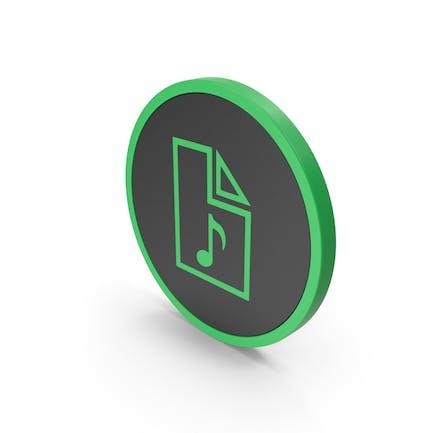 Icon Audio File Green