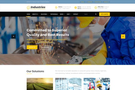 Industries - Factory, Company PSD Template