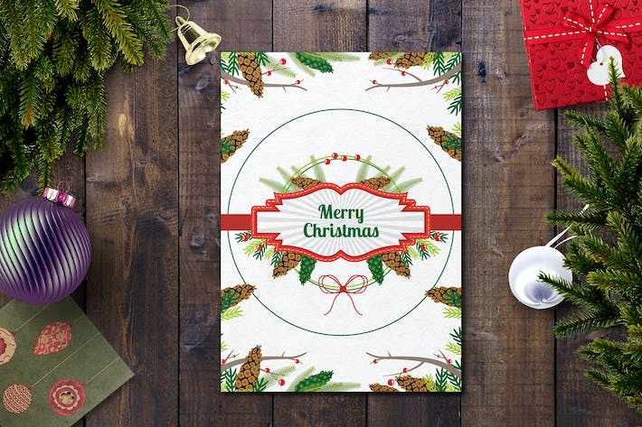 Cover Image For Christmas Card Template