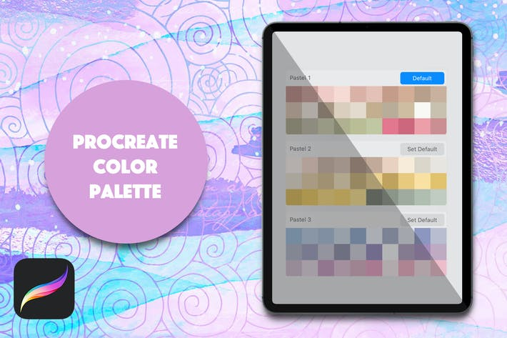 Thumbnail for Procreate Palette - Light Pastels