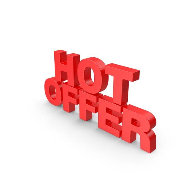Hot Offer 3D Text