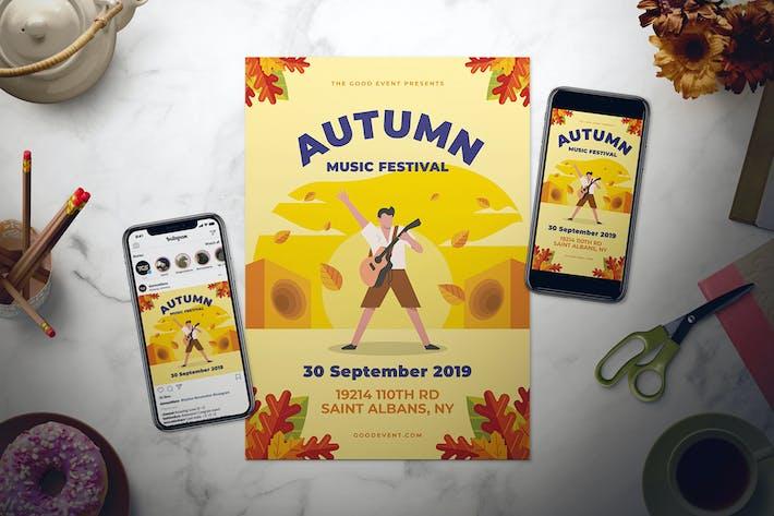 Thumbnail for Fall Music Flyer Set