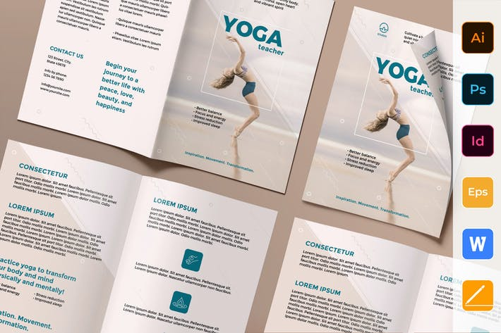 Thumbnail for Yoga Instructor Brochure Bifold