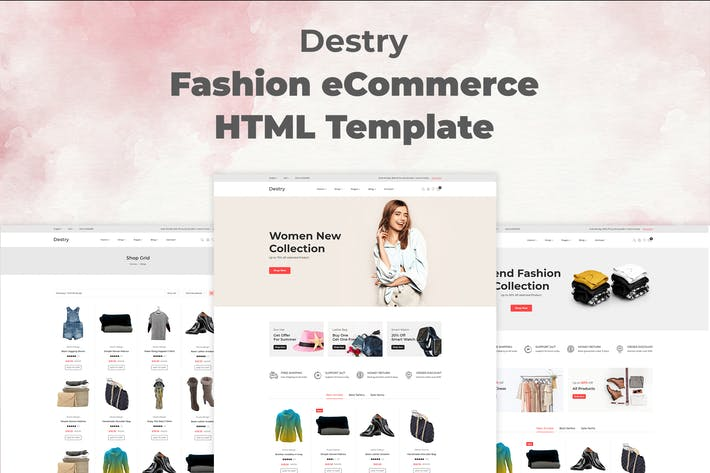 Thumbnail for Destry - Fashion eCommerce HTML Template