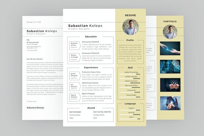 Thumbnail for CV Man Resume Designer