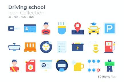 Driving School Color Icon