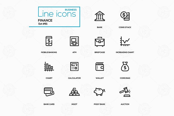 Thumbnail for Negocios y finanzas - Kit de Íconos de Diseño de línea