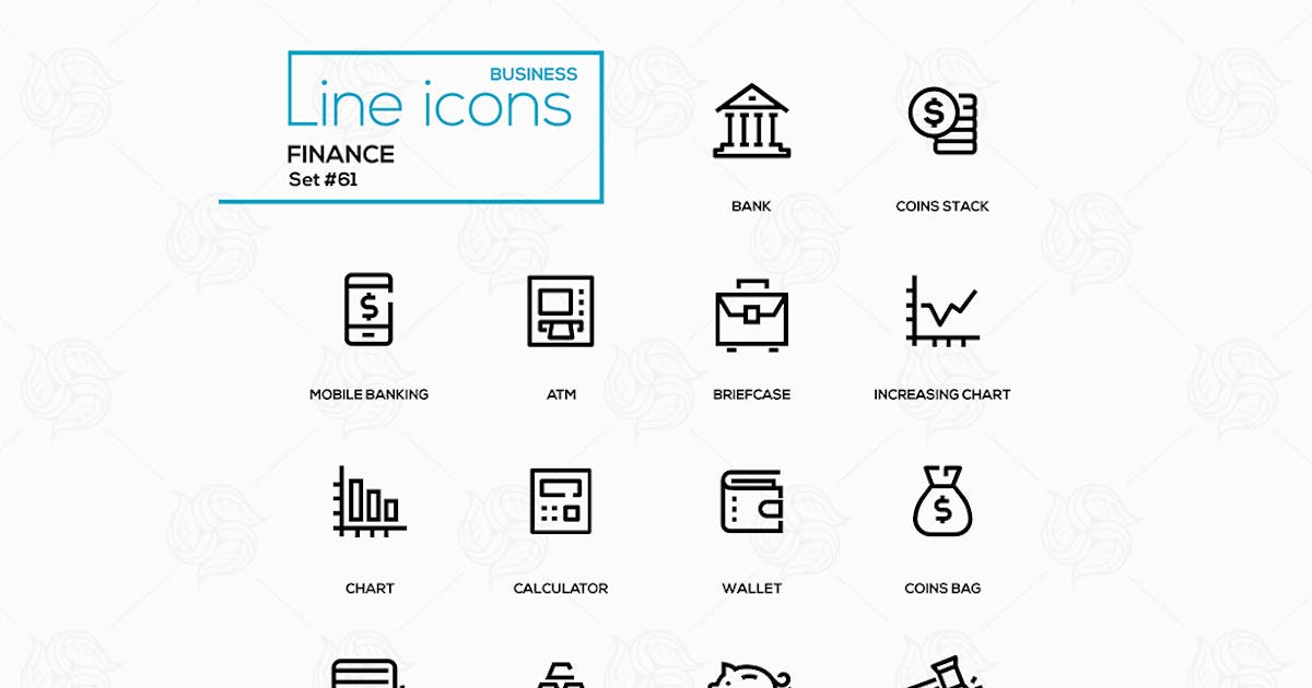Download Business and finance - line design icons set by Unknow