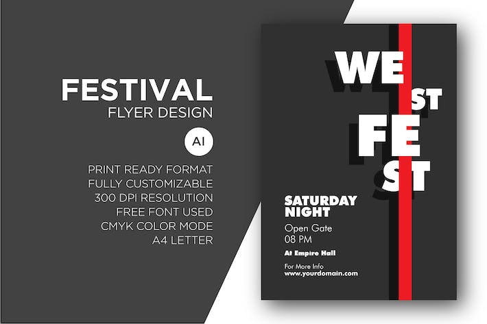 Thumbnail for Festival - Flyer Design Template
