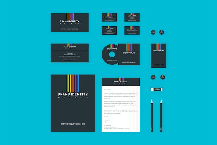 Thumbnail for Branding Identity Set: Colored Lines for Sketch
