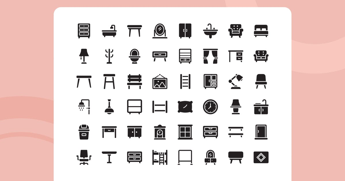 Download Meuble Glyph Style Icon Pack by usedesignspace