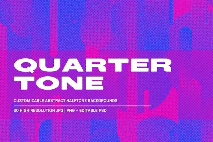Thumbnail for Quarter Tone - Customizable Backgrounds pack