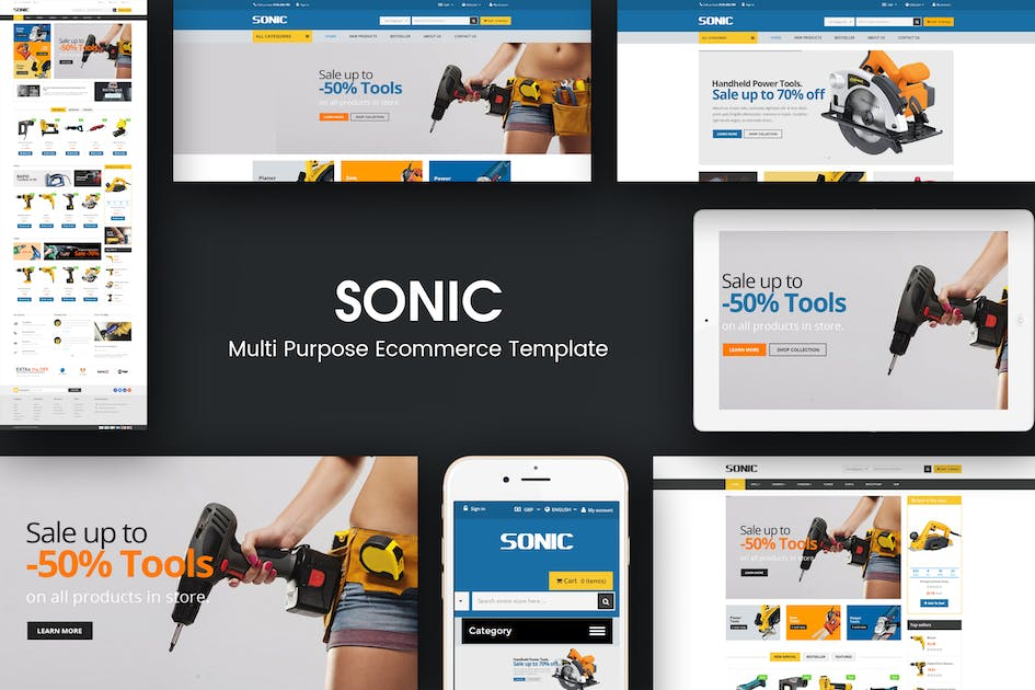 Download Sonic - Responsive Opencart Theme by posthemes