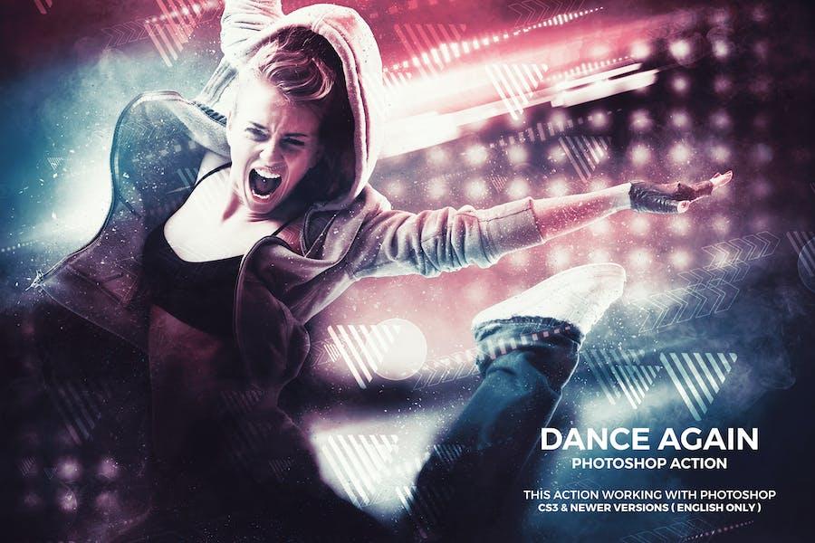 Танцевать снова действие Photoshop