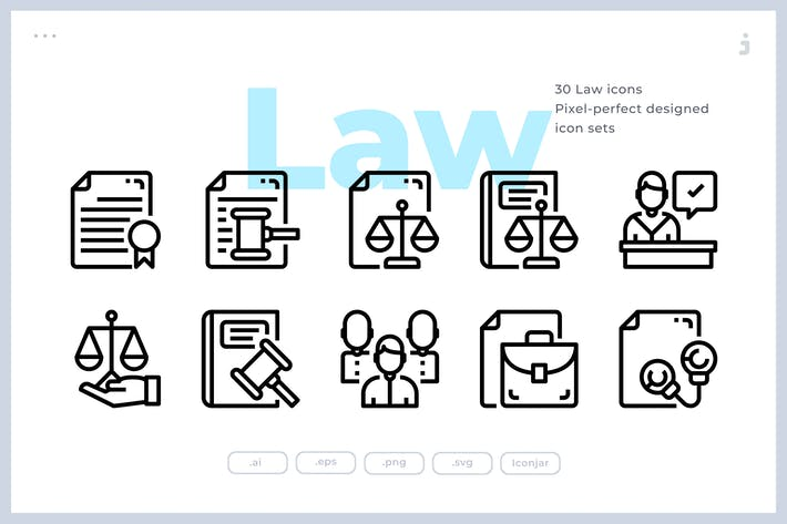 Thumbnail for 30 Law Icons