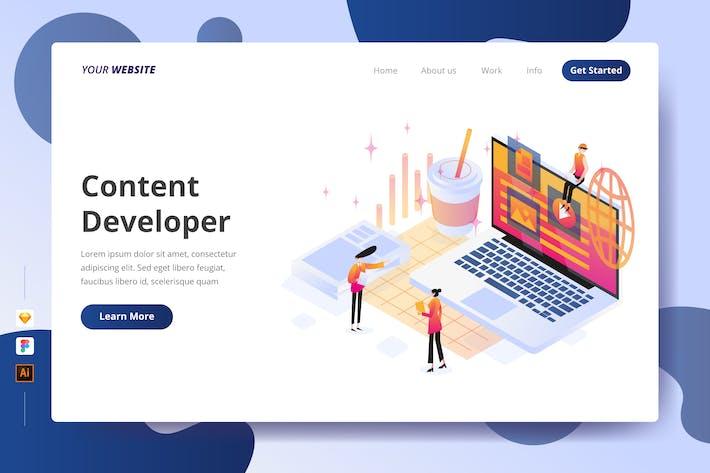 Thumbnail for Content Developer - Landing Page