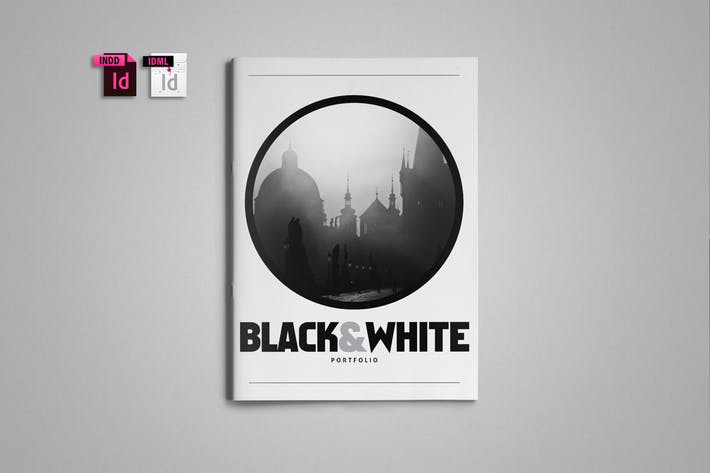 Thumbnail for Black-White Portfolio Template