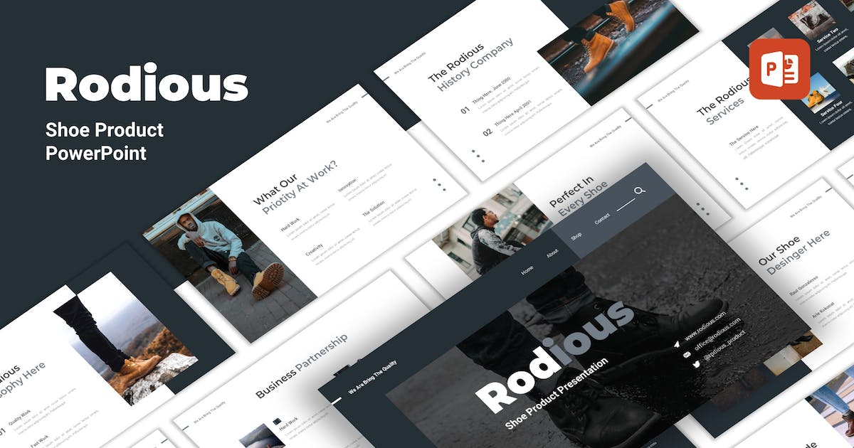 Download Rodius - Shoes Store PowerPoint Template by CocoTemplates