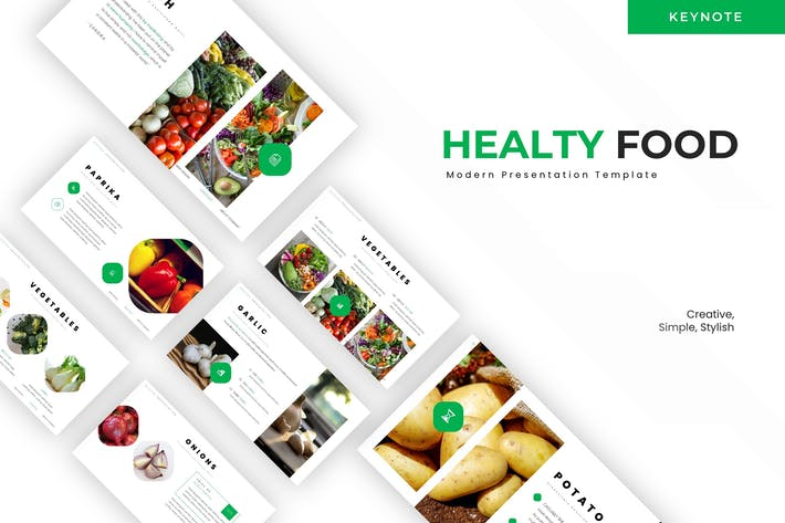 Thumbnail for Healthy Food - Keynote Template